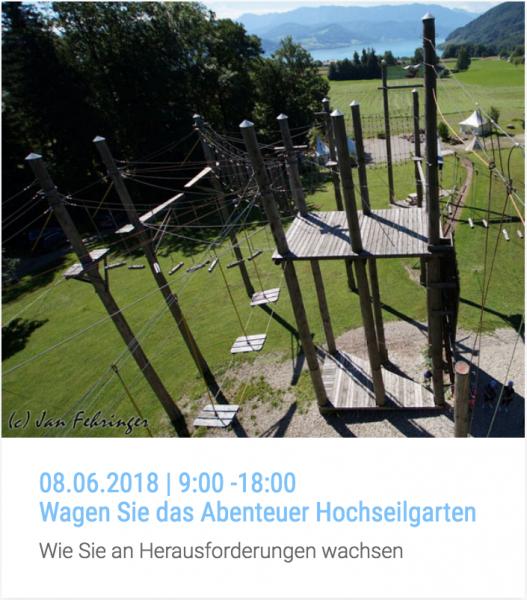 Workshop | Wagen Sie das Abenteuer Hochseilgarten | 08.06.2018