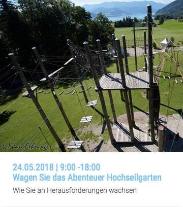 Workshop | Wagen Sie das Abenteuer Hochseilgarten | 24.05.2018